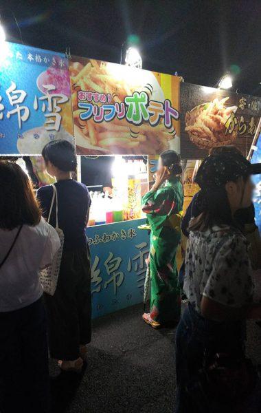 8月16日 杵築花火大会出店(大分)